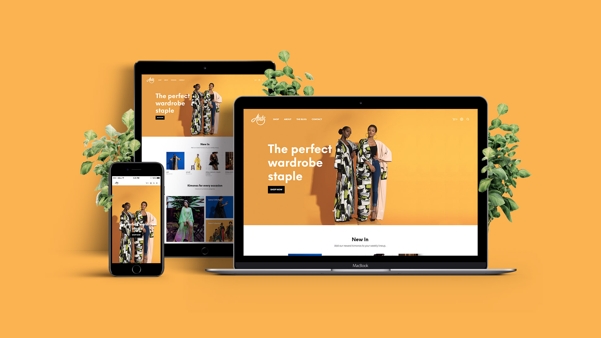 Abebibytan website showcasing responsiveness